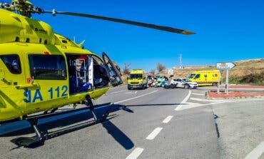 Herido grave un motorista de 45 años tras sufrir un accidente en Loeches