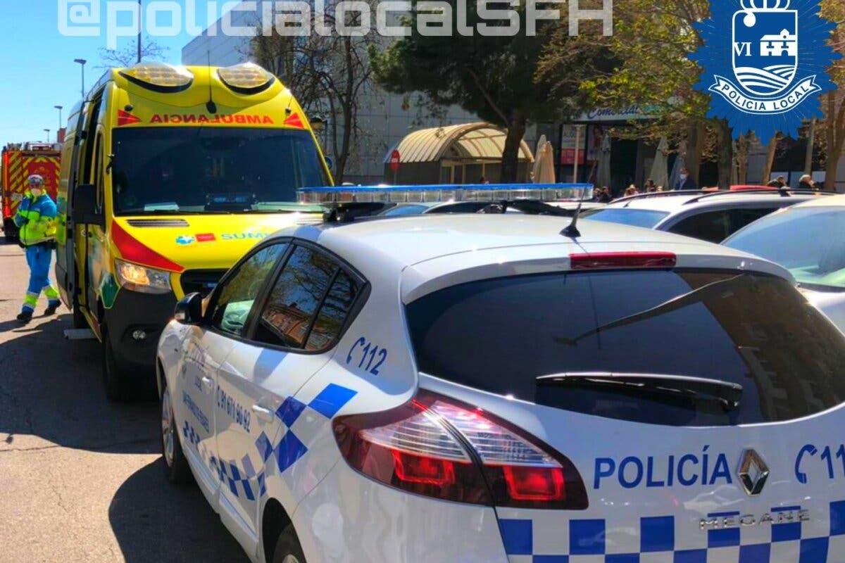 Hallado inconsciente en San Fernando de Henares tras acceder la Policía por una ventana