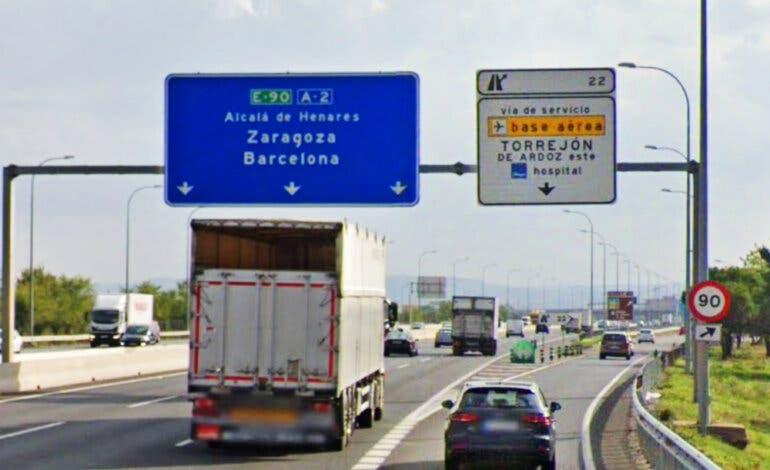 Cerrado por obras uno de los accesos a Torrejón de Ardoz desde la A-2