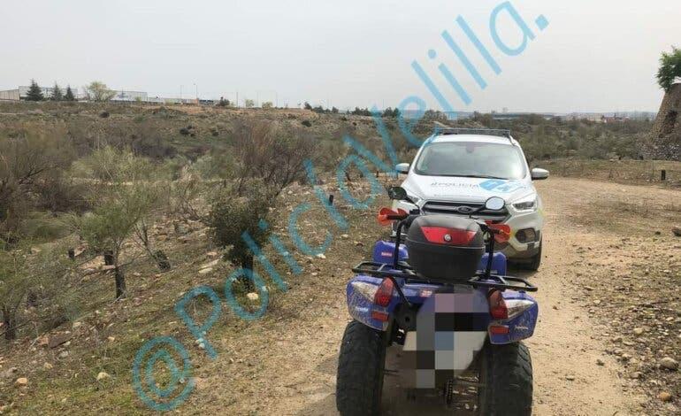 Denunciados en Velilla tres menores en un quad a gran velocidad y sin casco