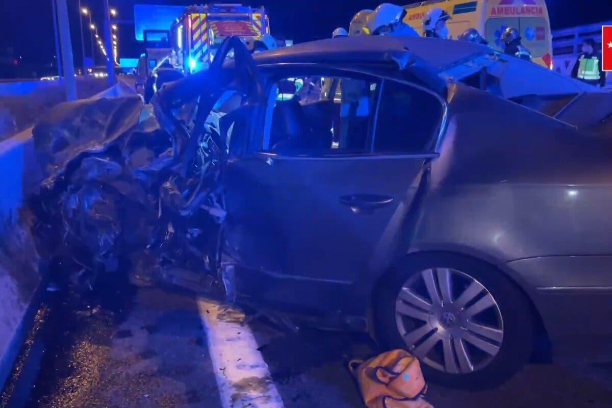 Un kamikaze muere y mata a otro conductor en Alcalá de Henares