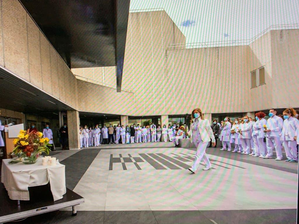 El Hospital Asepeyo de Coslada homenajea a sus sanitarios por su labor frente al Covid-19
