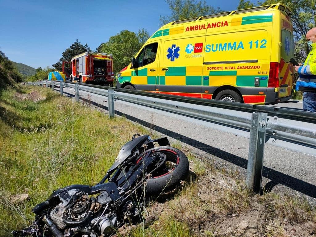 Muere un motorista de 30 años en un accidente en la M-501