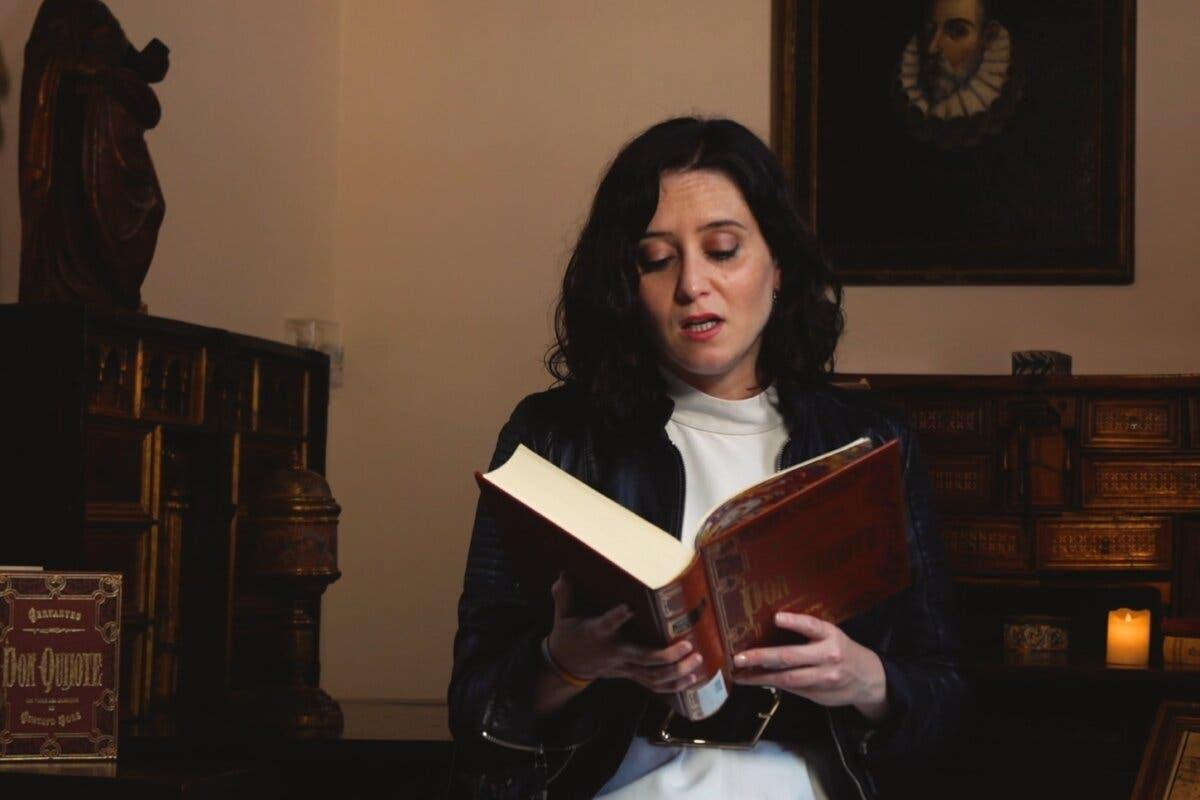 Ayuso participa desde Alcalá de Henares en la XXV Lectura Continuada del Quijote