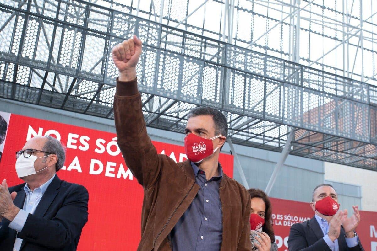 Sánchez celebra un mitin en una zona confinada de Getafe y Sanidad estudia posibles infracciones
