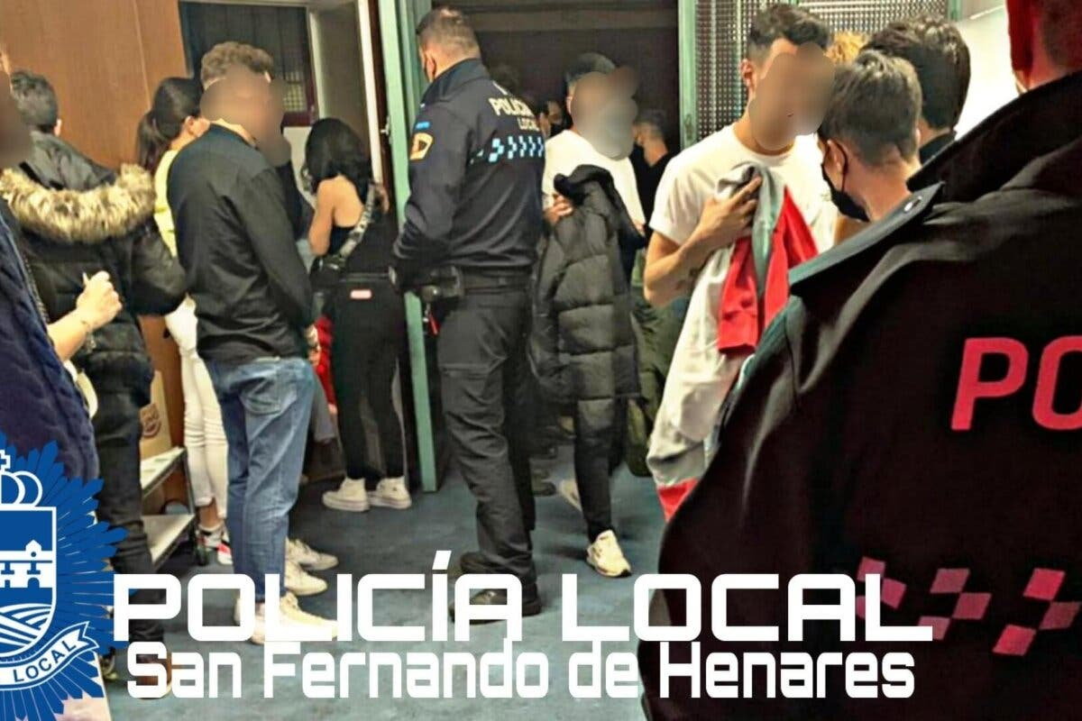 Desmantelan una fiesta ilegal en una nave de San Fernando de Henares