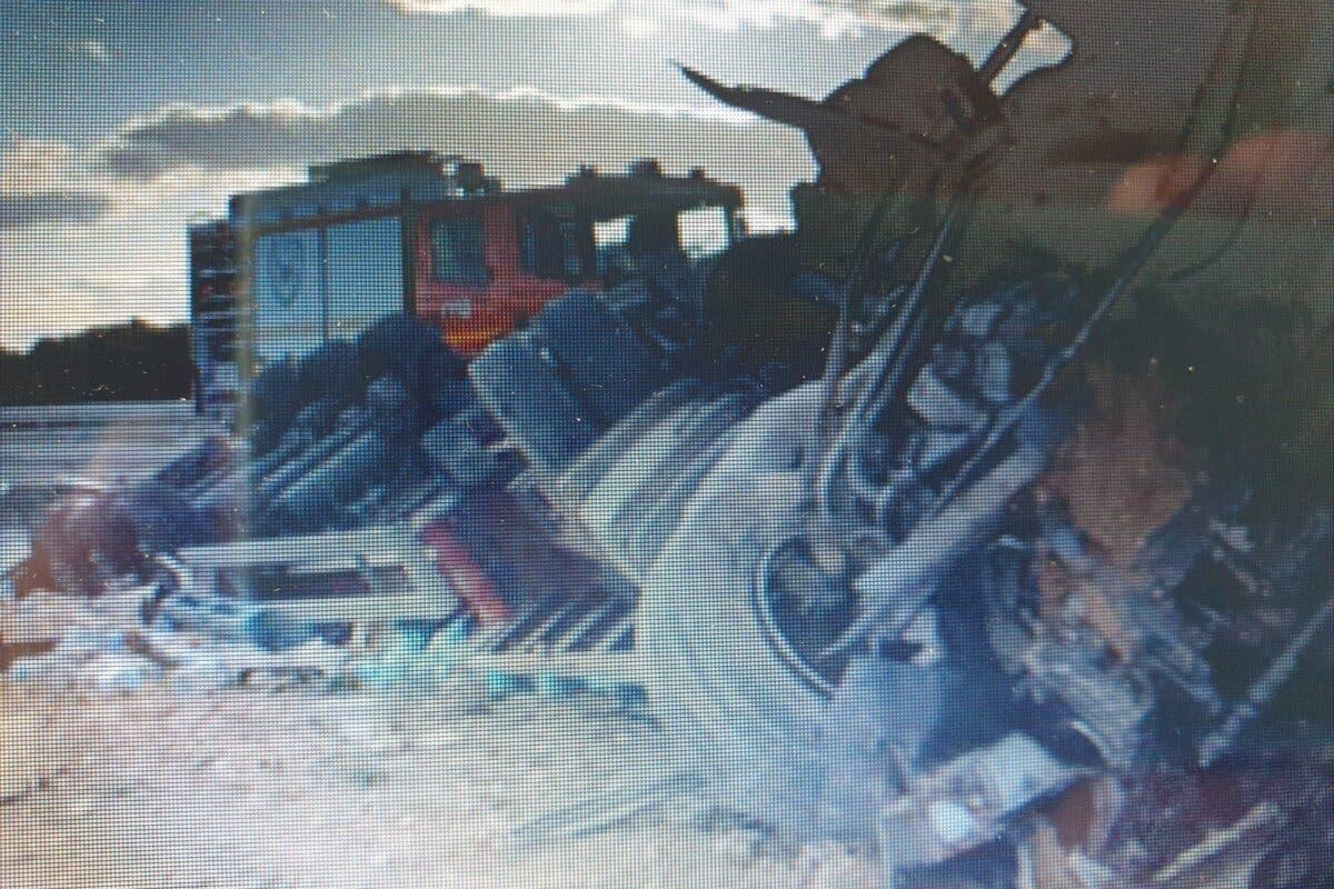 Muere un camionero tras una colisión entre dos camiones en la A-2