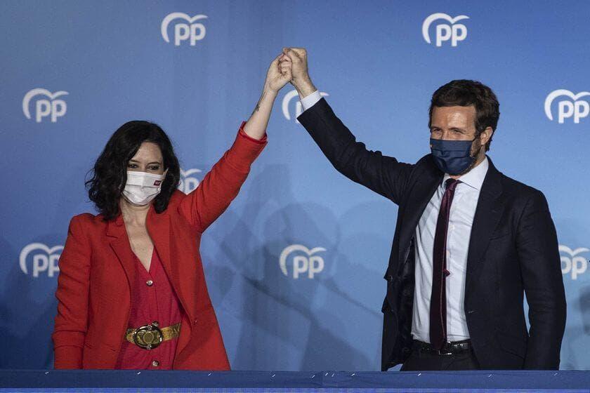 Ayuso barre a la izquierda con 65 escaños y Pablo Iglesias abandona la política