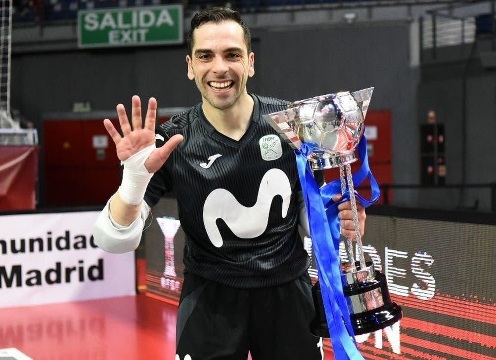 El torrejonero Jesús Herrero llega a los 350 partidos defendiendo la camiseta de Movistar Inter
