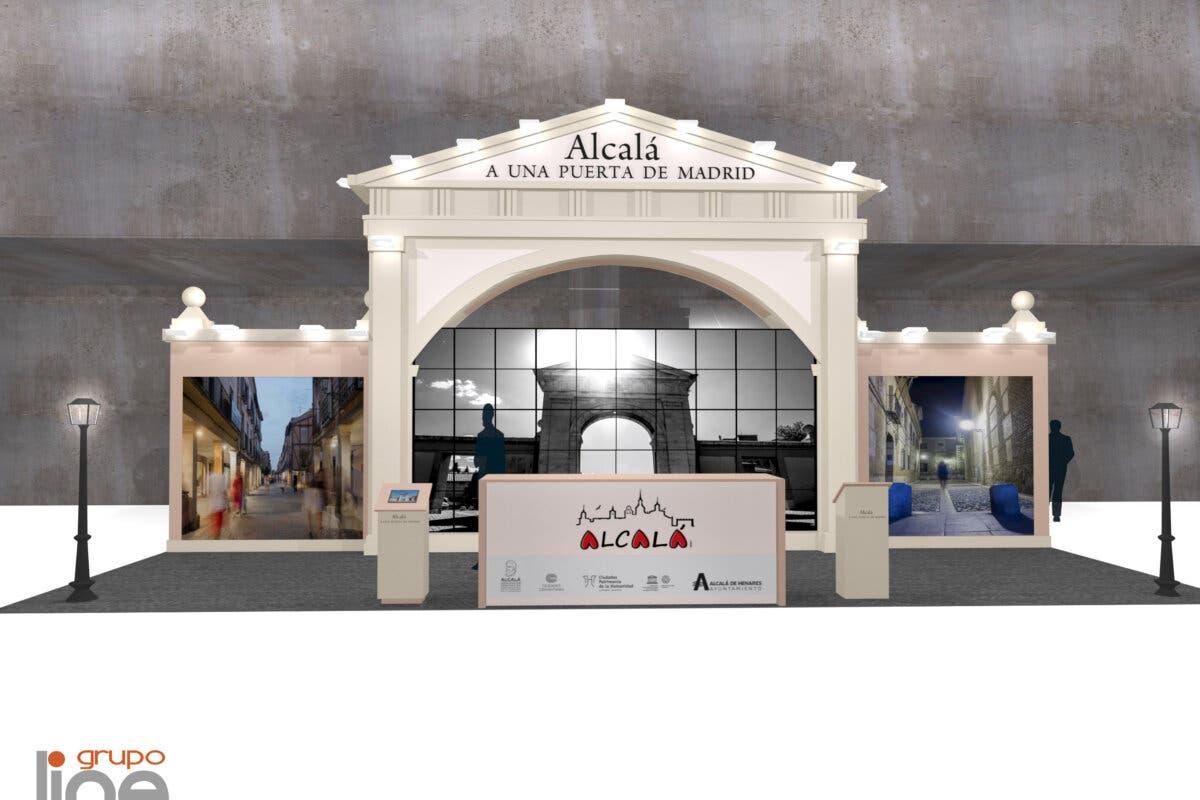 Así será el stand de Alcalá de Henares en FITUR que arranca el 19 de mayo