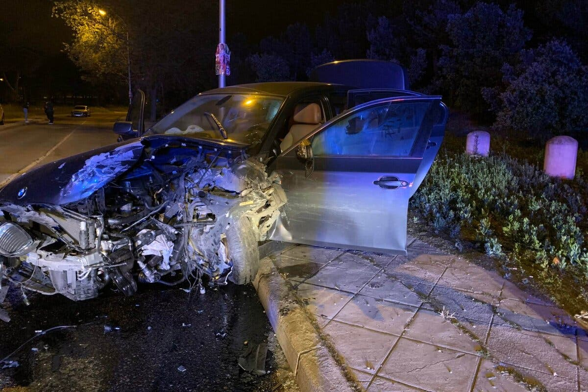 Un accidente múltiple en Vallecas deja tres heridos graves
