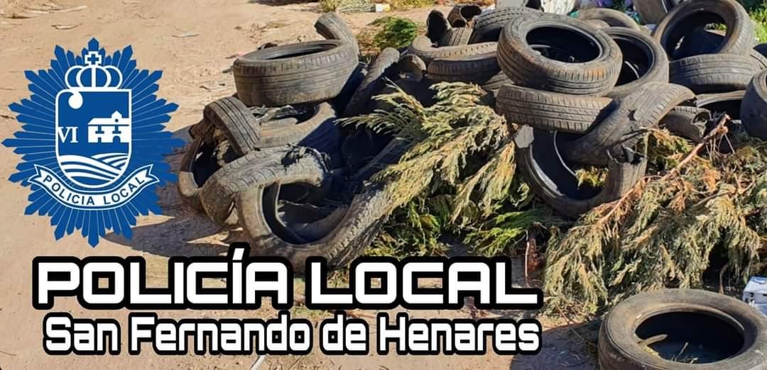 Localizado el autor de un vertido de neumáticos en San Fernando de Henares