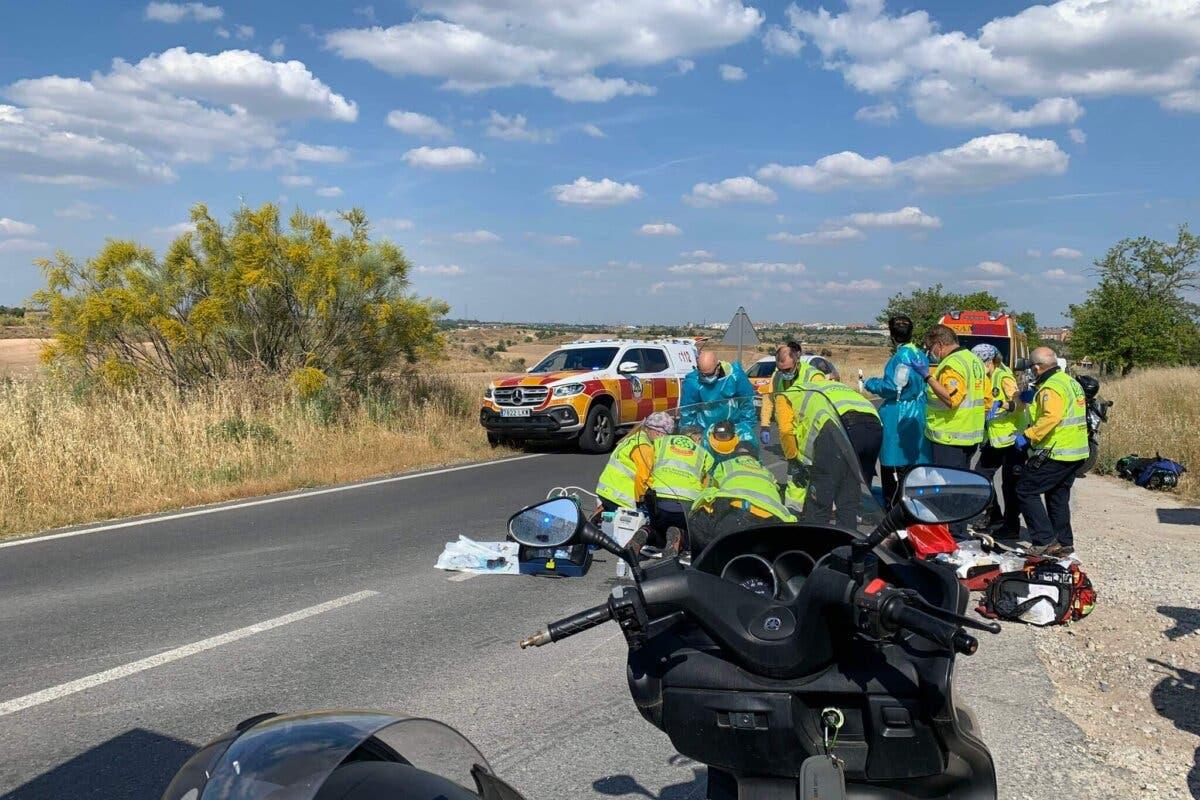 Muere un motorista de 44 años en un accidente en la M-612