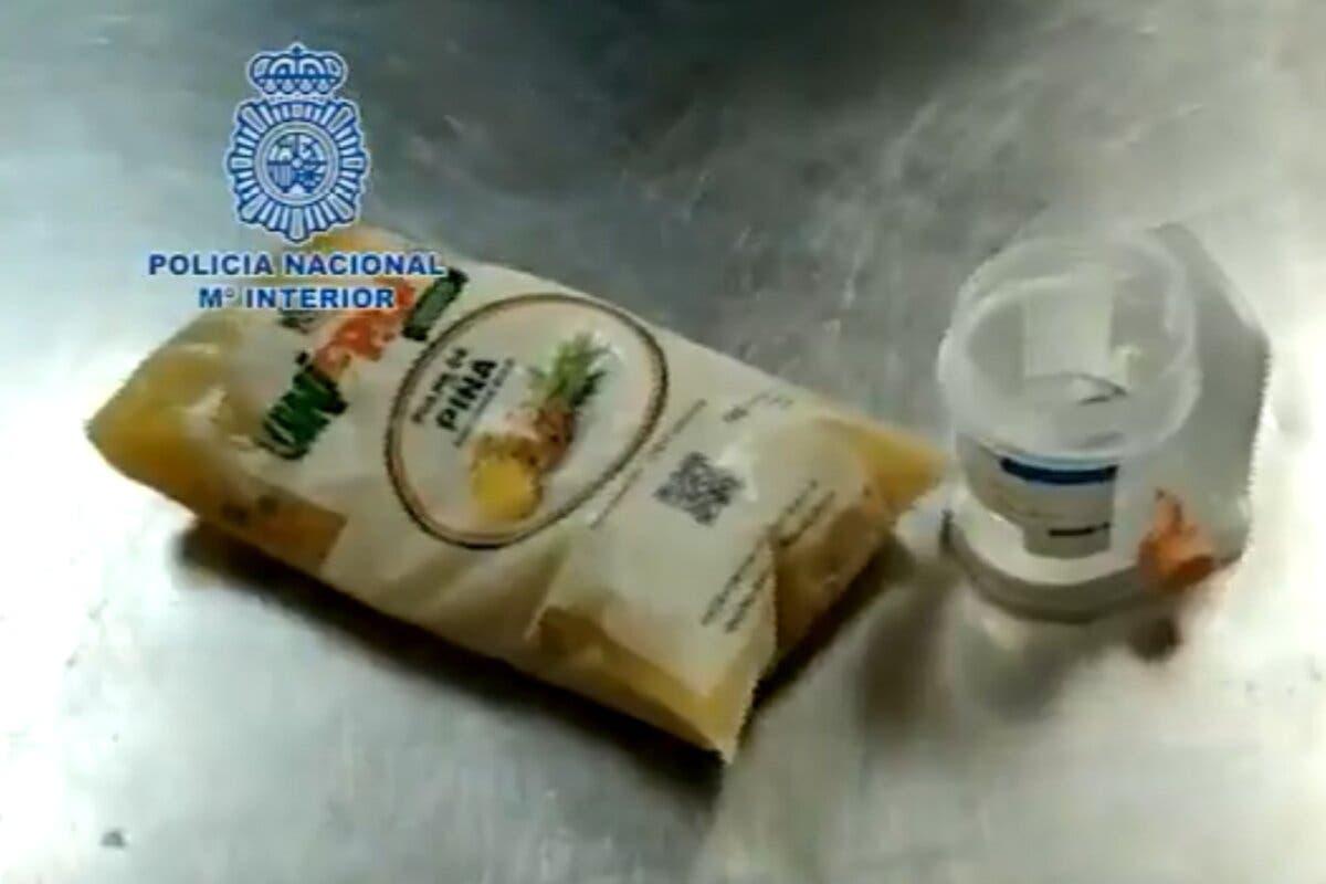 Incautados en Madrid 800 kilos de cocaína mezclada con pulpas de piña congelada