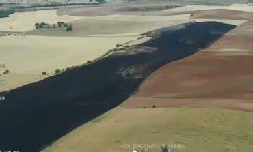 Impresionantes imágenes de un incendio agrícola en Daganzo de Arriba