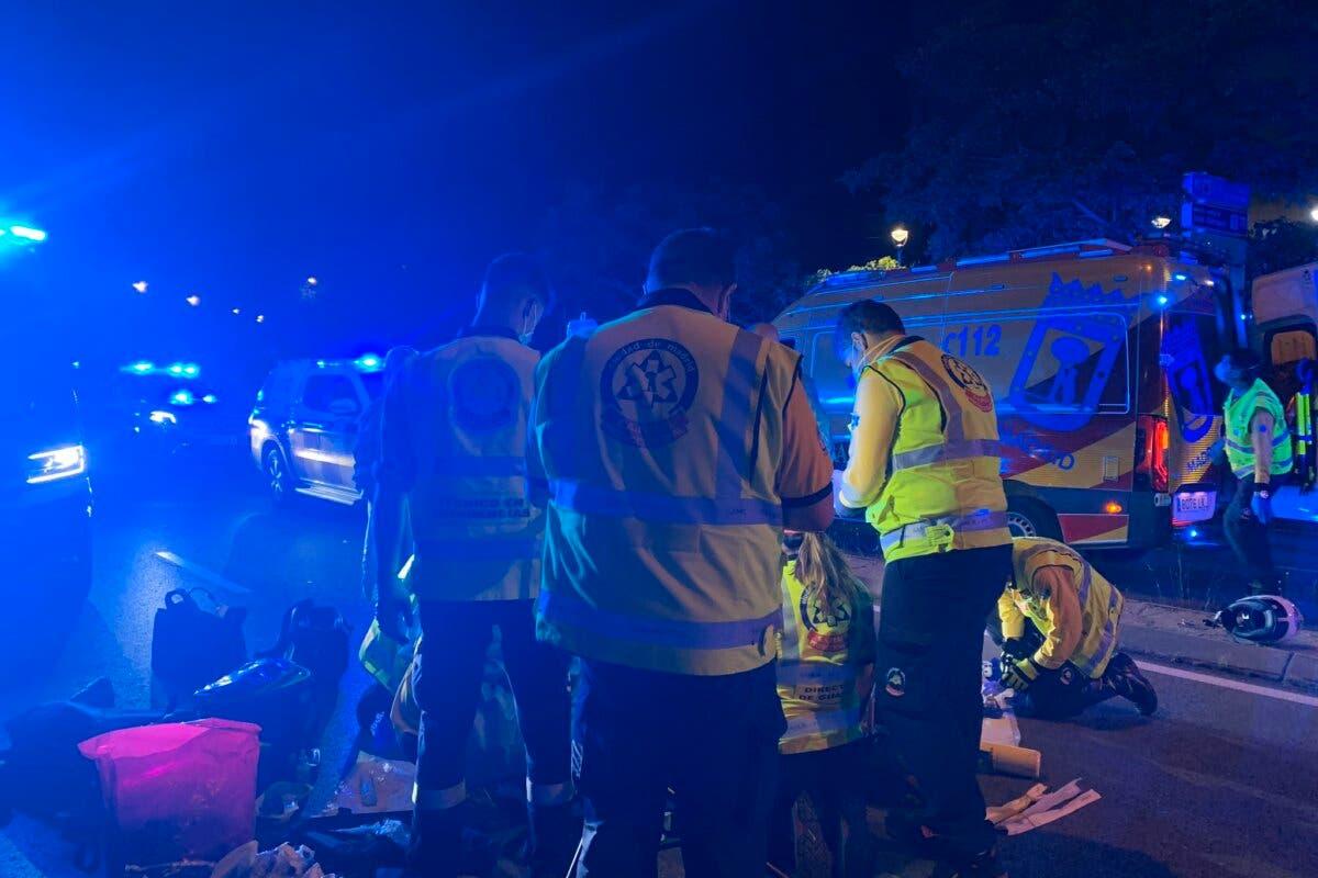 Muere un motorista de 22 años en Madrid tras chocar contra un VTC