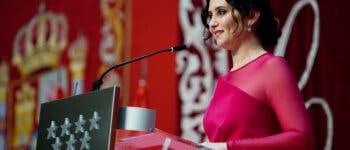 Una emocionada Ayuso toma posesión como presidenta de la Comunidad de Madrid