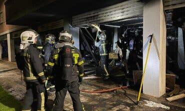 Aparatoso incendio esta madrugada en Torrejón de Ardoz
