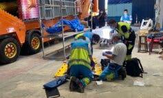 Grave accidente laboral en una nave de Ajalvir