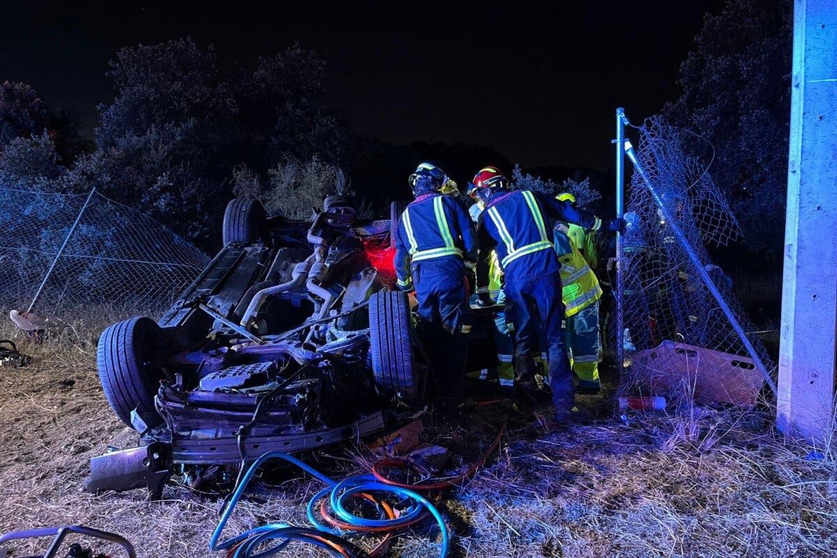 Muere un joven de 24 años en un accidente de tráfico en Valdemorillo