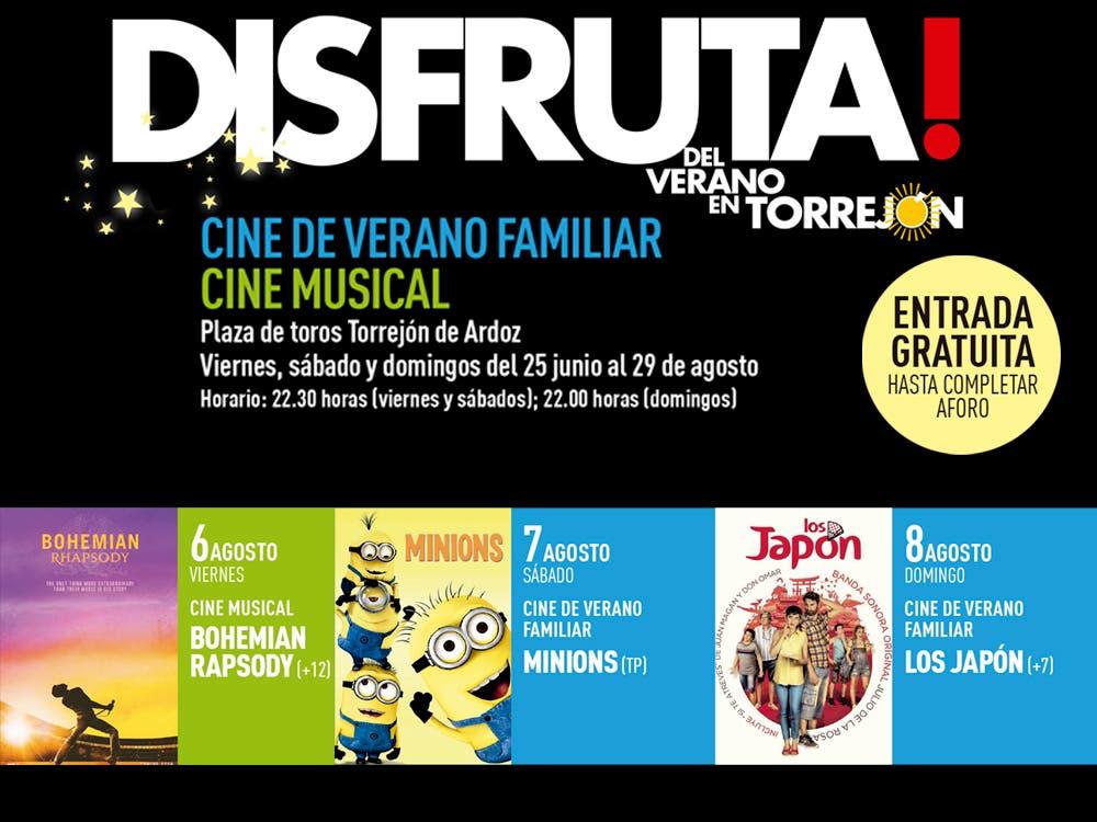Continúa el Cine de Verano gratuito viernes, sábado y domingo en Torrejón de Ardoz