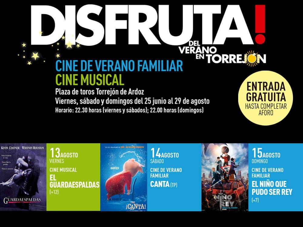 Continúa el Cine de Verano gratuito en Torrejón de Ardoz viernes, sábado y domingo