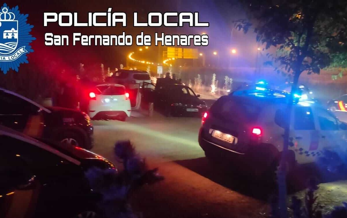 Dispositivo especialen San Fernando de Henares contra las quedadas para hacer botellón