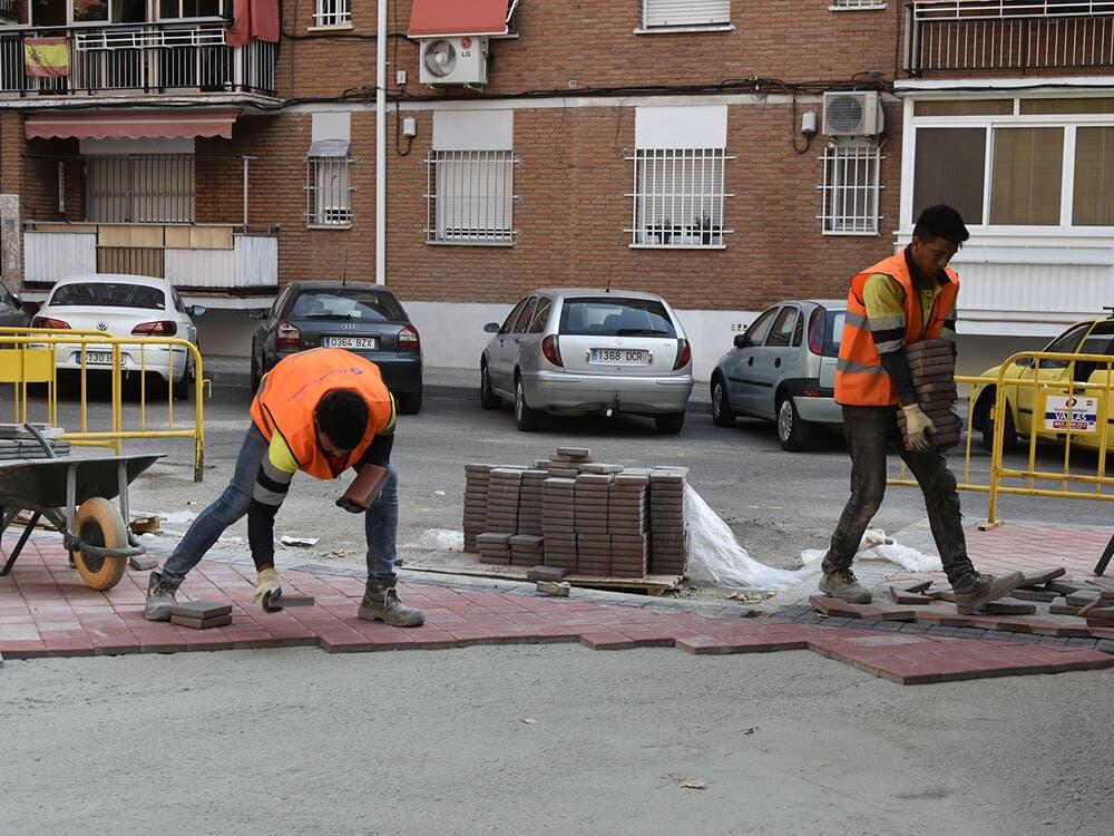 Avanzan las obras del Plan de Renovación de Aceras de Torrejón de Ardoz