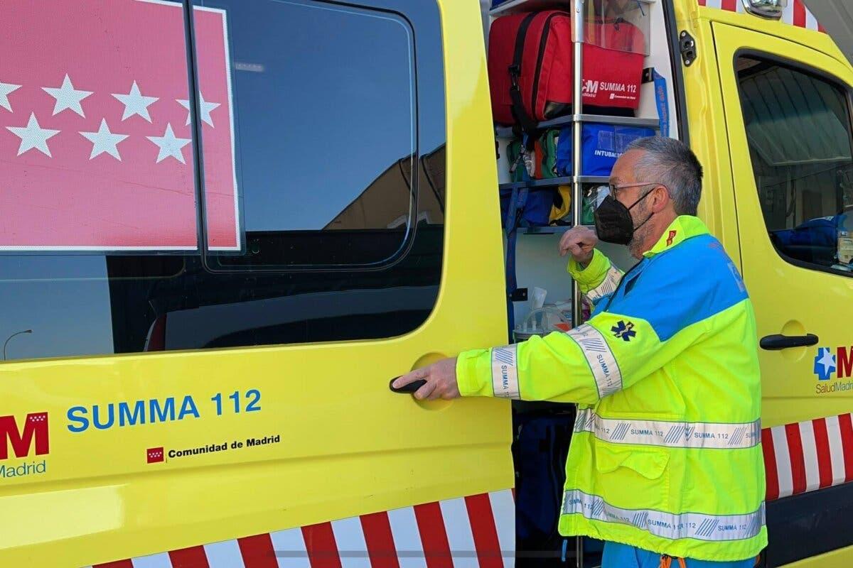 Una explosión de gas en un taller de Madrid deja un herido grave