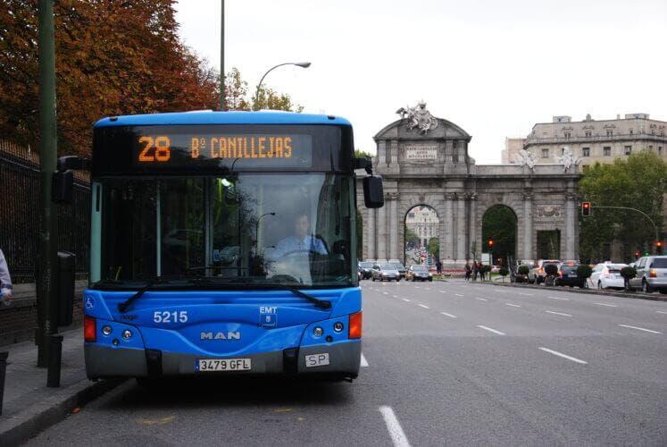 Viajar en la EMT de Madrid será gratis en hora punta durante dos semanas
