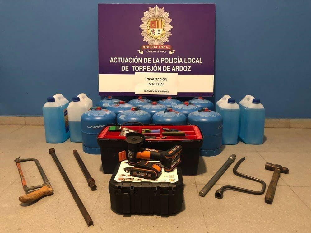 Detenido en Torrejón por robos en gasolineras gracias al sistema de lectura de matrículas