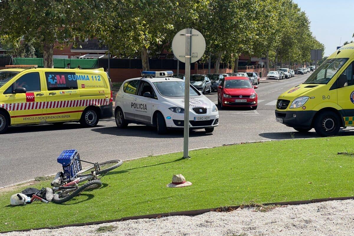 Muere un ciclista en un accidente de tráfico en Parla
