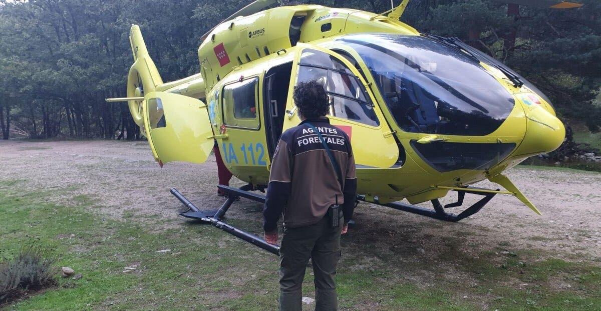 Heridas dos mujeres al caer al río en Rascafría por un talud de cinco metros