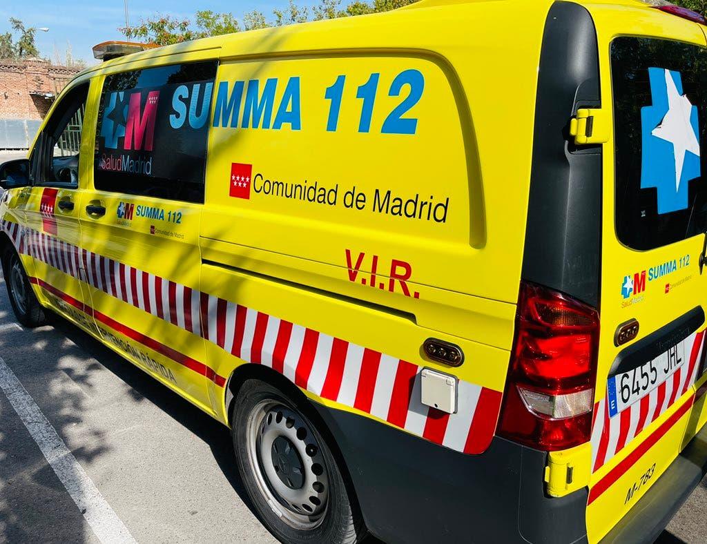 Herido grave un hombre de 61 años tras sufrir un accidente laboral en Alcobendas