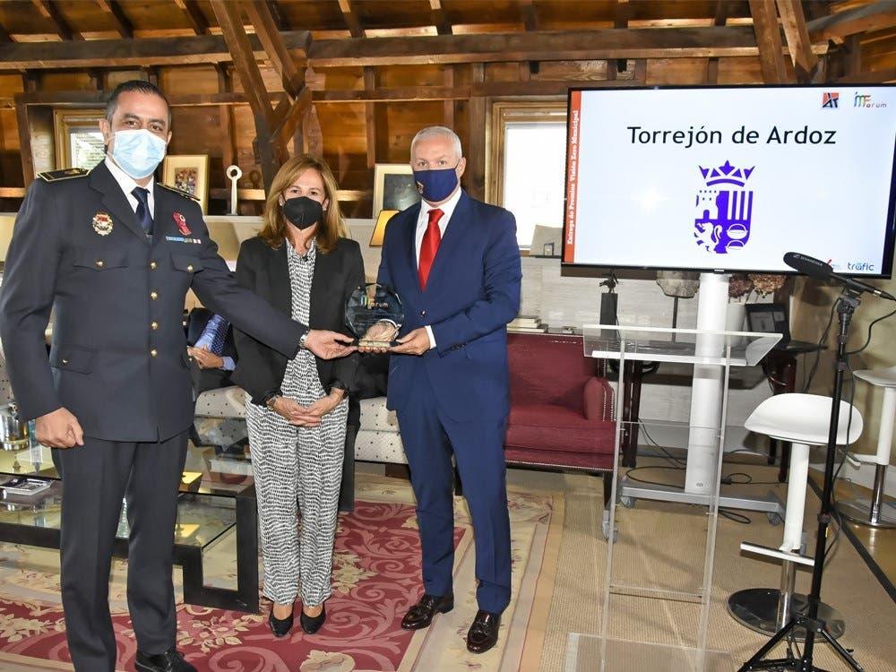 Vuelven a premiar a Torrejón por 11 años sin fallecidos en accidentes de tráfico
