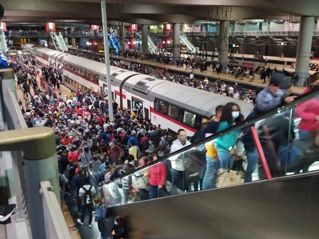 Vuelve el caos a Cercanías por la huelga de maquinistas de Renfe