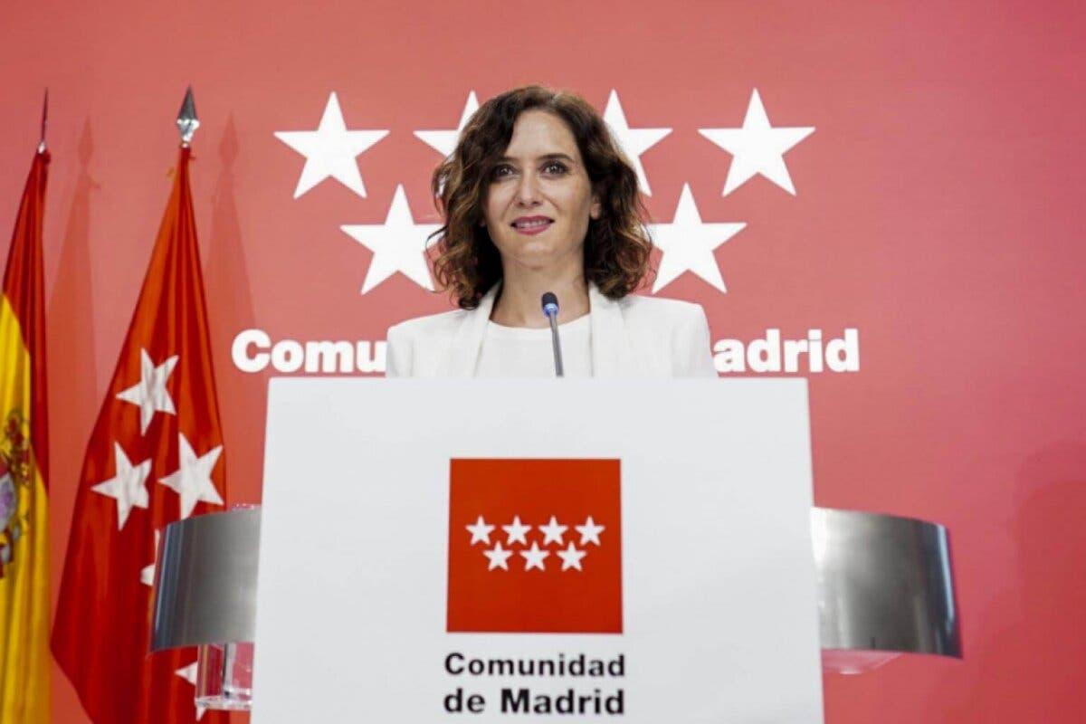 Ayuso anuncia que eliminará todos los impuestos propios de la Comunidad de Madrid