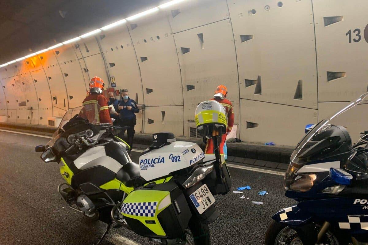 Muere un motorista en el túnel de la M-30