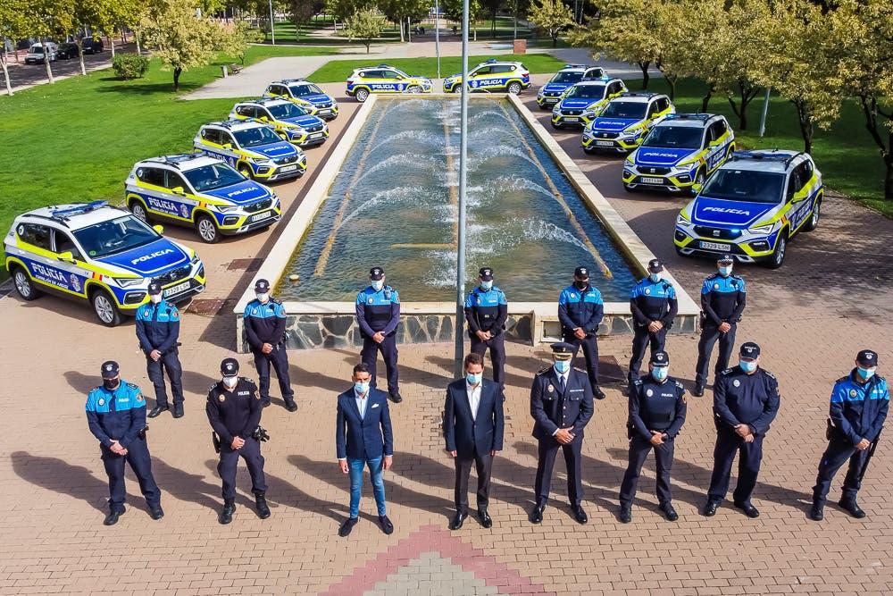 La Policía de Torrejón de Ardoz estrena 14 nuevos vehículos, todos ellos con desfibrilador